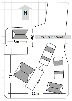 Car Camp South suits large groups