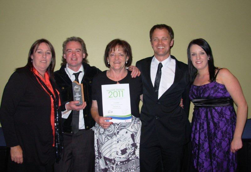 Receiving the Tourism Award