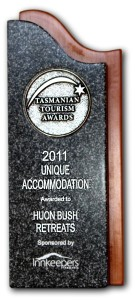 Unique Accommodation 2011 trophy 1280