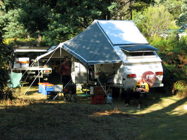 Car Camp Central suits small camper trailers or medium tents