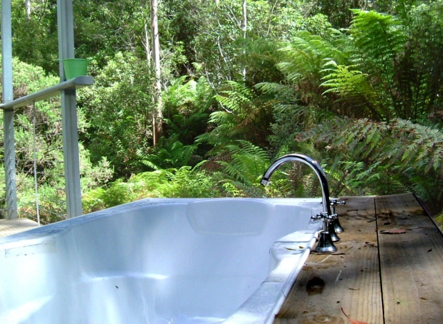Streamside Cabin Outdoor Bath