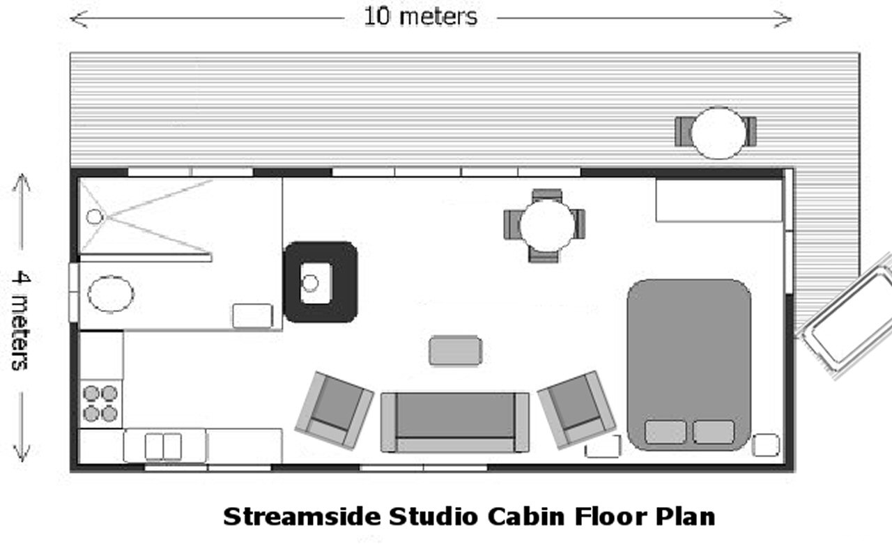 Streamside Cabin Floor Plan